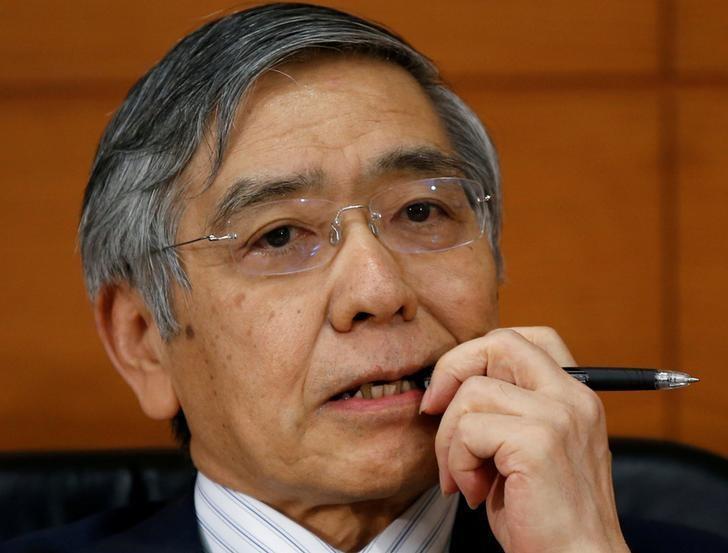 2016年9月21日,日本央行总裁黑田东彦在日本央行总部出席记者会。REUTERS/Toru Hanai