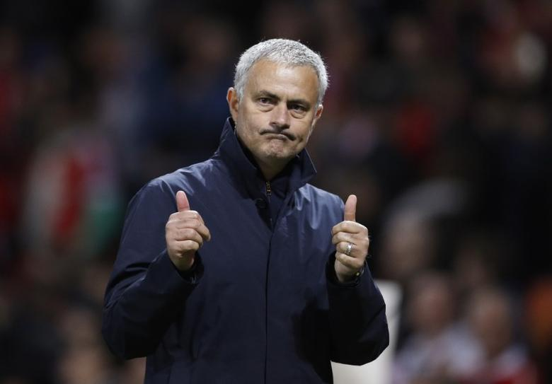 Britain Soccer Football - Manchester United v FC Zorya Luhansk - UEFA Europa League Group Stage - Group A - Old Trafford, Manchester, England - 29/9/16Manchester United's manager Jose Mourinho celebrates after the matchReuters / Darren StaplesLivepic