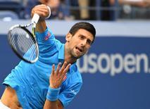 Djokovic durante o Aberto dos EUA.  11/9/2016.  Reuters/Robert Deutsch-USA TODAY Sports