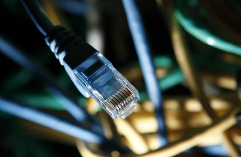 An internet cable is seen at a server room in this picture illustration taken in Warsaw January 24, 2012. REUTERS/Kacper Pempel