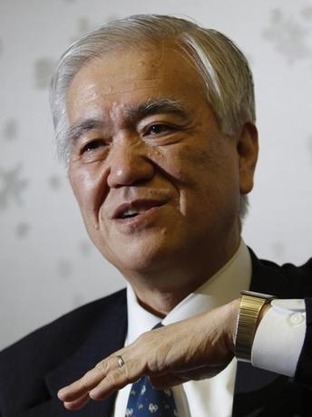 公益財団法人の国際通貨研究所は1日、行天豊雄理事長が退任し国際協力銀行(JBIC)前総裁の渡辺博史氏(写真)が後任に就く人事を発表した。写真は2011年1月撮影(2016年 ロイター/Issei Kato )