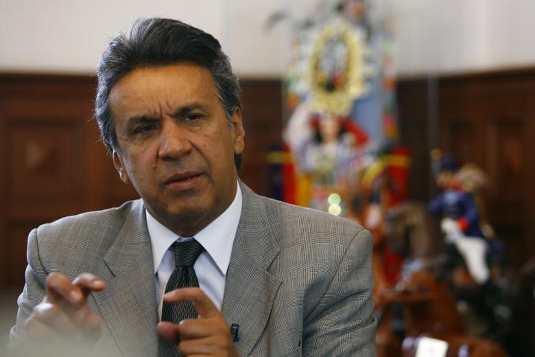 Ecuador's then-Vice President Lenin Moreno gestures during an interview in Quito August 6, 2009. REUTERS/Guillermo Granja
