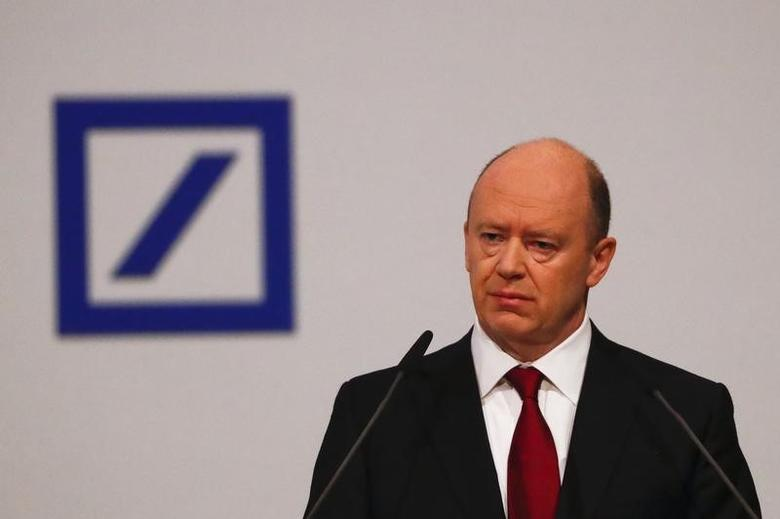 2016年5月19日,德意志银行执行长克莱恩。REUTERS/Kai Pfaffenbach
