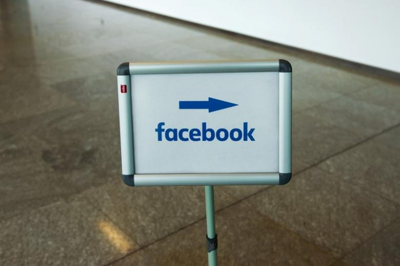 A picture shows the Facebook logo at the Facebook office in Berlin, Germany, August 29, 2016. REUTERS/Stefanie Loos
