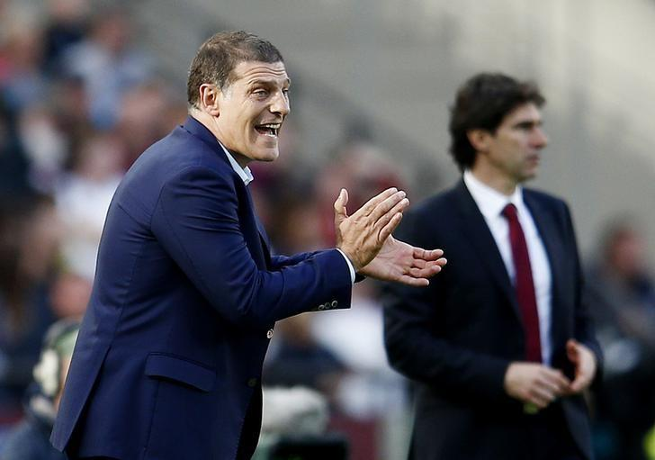 Britain Soccer Football - West Ham United v Middlesbrough - Premier League - London Stadium - 1/10/16West Ham United manager Slaven Bilic and Middlesbrough manager Aitor Karanka Reuters / Peter NichollsLivepic