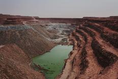 The Tamgak open air uranium mine is seen at Areva's Somair uranium mining facility in Arlit, Niger, September 25, 2013.  REUTERS/Joe Penney/File Photo