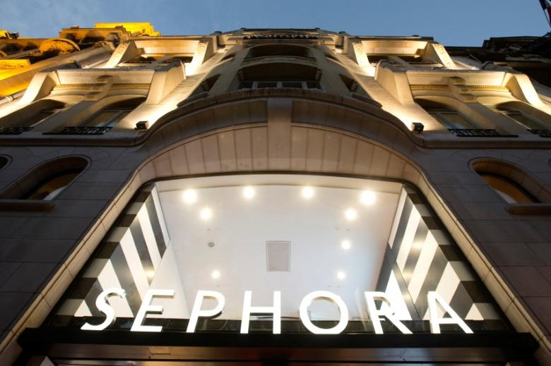 A general view shows the facade of the Sephora store on the Champs Elysees Avenue in Paris, France October 6, 2013.  REUTERS/Gonzalo Fuentes/File Photo