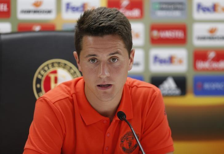 Britain Soccer Football - Manchester United Press Conference - De Kuip Stadium, Rotterdam, Netherlands - 14/9/16Manchester United's Ander Herrera during the press conferenceAction Images via Reuters / Matthew ChildsLivepic