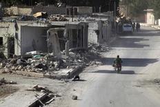 Casas destruídas após ataque em Aleppo.   02/10/2016            REUTERS/Khalil Ashawi