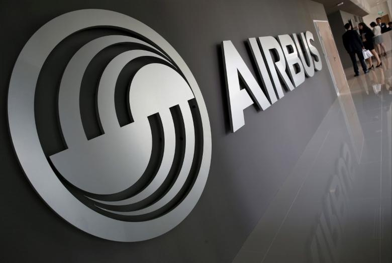 An Airbus signage is pictured at the new Airbus Asia Training Centre in Singapore April 18, 2016. REUTERS/Edgar Su/File Photo