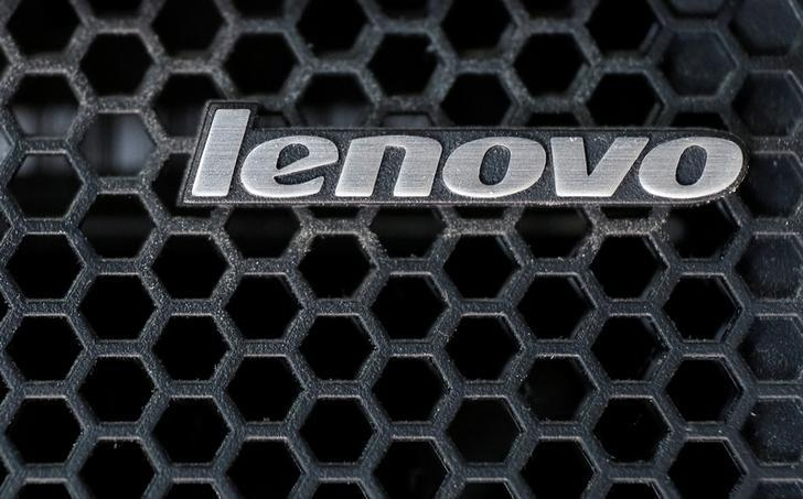 A Lenovo logo is seen at the computer in Kiev, Ukraine April 21, 2016. REUTERS/Gleb Garanich