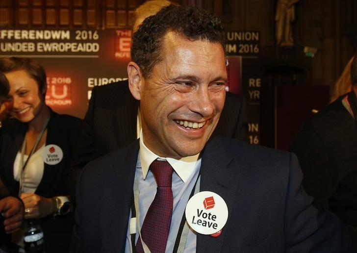 Steven Woolfe of the United Kingdom Independence Party (UKIP) smiles as votes are counted for the EU referendum, in Manchester, Britain June 24, 2016.  REUTERS/Andrew Yates/Files