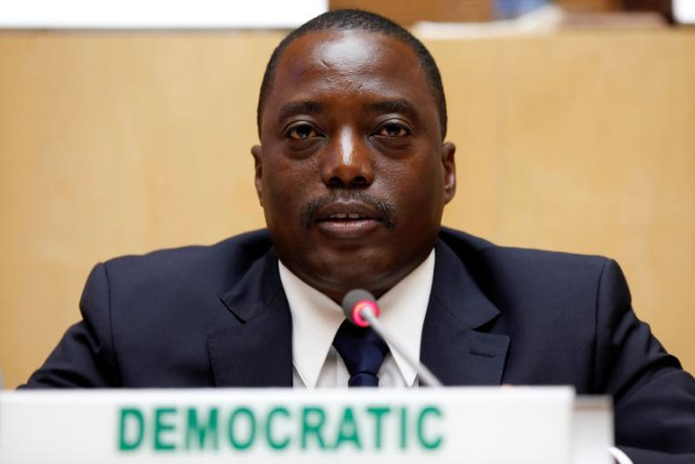 Democratic Republic Congo's President Joseph Kabila attends the signing ceremony of the Peace, Security and Cooperation Framework for the Democratic Republic of Congo and the Great Lakes, at the African Union Headquarters in Ethiopia's capital Addis Ababa, February 24, 2013. REUTERS/Tiksa Negeri/File Photo