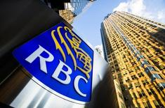 A Royal Bank of Canada (RBC) logo is seen on Bay Street in the heart of the financial district in Toronto, January 22, 2015. REUTERS/Mark Blinch/File Photo
