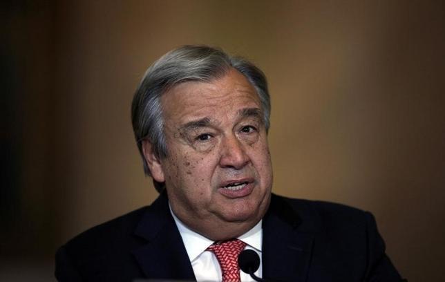 10月6日、国連安全保障理事会は次期事務総長にポルトガル元首相のアントニオ・グテレス氏(写真)を全会一致で指名した(2016年 ロイター/Rafael Marchante)