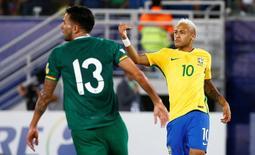 Neymar comemora gol sobre Bolívia em Natal.      06/10/2016              REUTERS/Ricardo Moraes