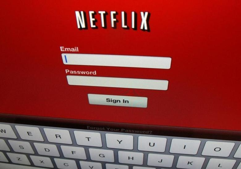The Netflix sign on is shown on an iPad in Encinitas, California, April 19,2013. REUTERS/Mike Blake/File Photo