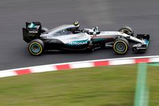 Formula One - Japanese Grand Prix - Suzuka Circuit, Japan - 7/10/16. Mercedes' driver Nico Rosberg of Germany in action during second practice. REUTERS/Toru Hanai