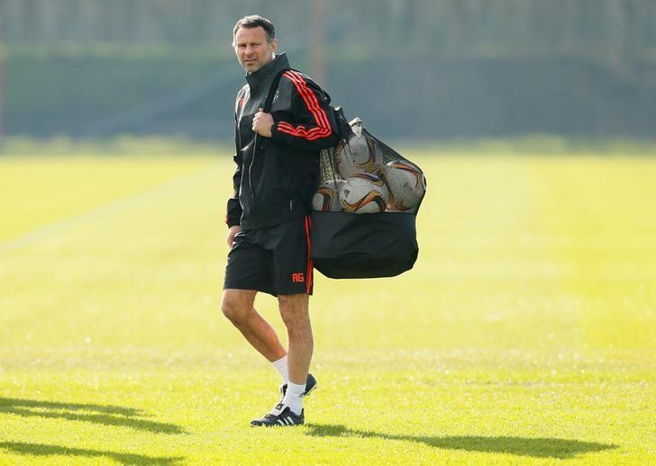 Football Soccer - Manchester United Training - Manchester United Training Ground, Manchester, England - 24/2/16Manchester United assistant manager Ryan Giggs during trainingAction Images via Reuters / Jason Cairnduff/File Photo Livepic