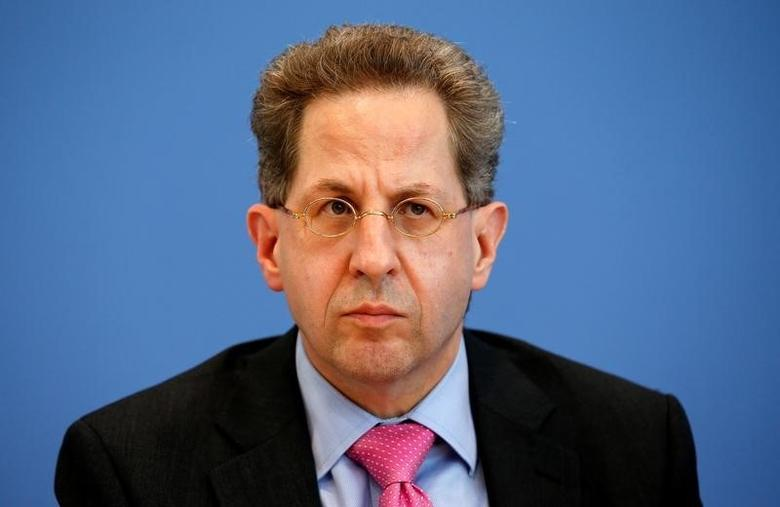 Hans-Georg Maassen, Germany's head of the German Federal Office for the Protection of the Constitution (Bundesamt fuer Verfassungsschutz) addresses a news conference to introduce the agency's 2015 report on threats to the constitution in Berlin, Germany, June 28, 2016.    REUTERS/Fabrizio Bensch