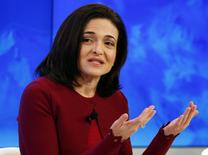 FILE PHOTO --  Sheryl Sandberg, Chief Operating Officer of Facebook attends a session during the annual meeting of the World Economic Forum in Davos, Switzerland January 20, 2016.  REUTERS/Ruben Sprich/Files