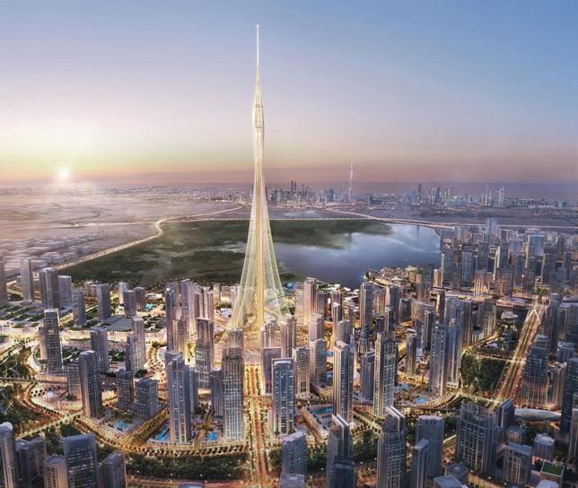 10月10日、アラブ首長国連邦(UAE)のドバイは、世界で最も高い「タワー」の建設を開始したと発表した。写真は不動産開発会社エマール・プロパティーズ提供の完成予想図(2016年 ロイター)