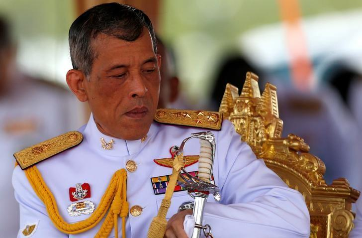 Thailand's Crown Prince Maha Vajiralongkorn watches the annual Royal Ploughing Ceremony in central Bangkok, Thailand, May 9, 2016. REUTERS/Athit Perawongmetha/Files