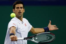 Tennis - Shanghai Masters tennis tournament - Shanghai, China - 13/10/16. Novak Djokovic of Serbia plays against Vasek Pospisil of Canada. REUTERS/Aly Song