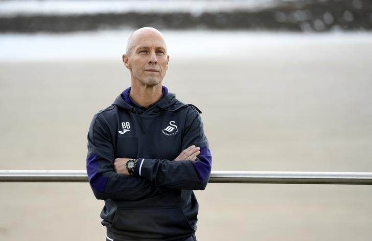 Britain Soccer Football - Swansea City - Bob Bradley Press Conference - Marriott Hotel Swansea - 7/10/16Swansea City manager Bob Bradley poses after the press conferenceAction Images via Reuters / Tony O'BrienLivepic