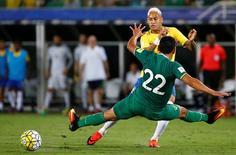 Neymar em jogo do Brasil contra a Bolívia.  6/10/16.   REUTERS/Ricardo Moraes