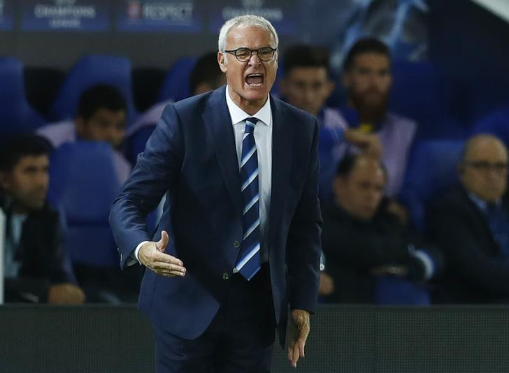 Britain Soccer Football - Leicester City v FC Porto - UEFA Champions League Group Stage - Group G - King Power Stadium, Leicester, England - 27/9/16Leicester City manager Claudio Ranieri Reuters / Eddie Keogh