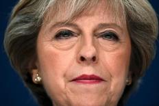 Primeira-ministra britânica, Theresa May, fala durante a Conferência Anual do Partido Conservador em Birmingham, Inglaterra  02/10/2016 REUTERS/Toby Melville