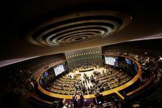 Visão aérea da Câmara dos Deputados durante sessão para eleger o novo presidente da Câmara no Congresso Nacional em Brasília, no Brasil 13/07/2016 REUTERS/Ueslei Marcelino
