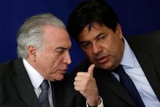 Presidente Temer e ministro Mendonça Filho em evento em Brasília  22/9/2016 REUTERS/Ueslei Marcelino
