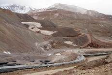 The Veladero mine, one of Barrick Gold Corp's five core mines, located near the city of Jachal, Argentina, is seen in October 14, 2016. Picture taken on October 14, 2016. REUTERS/Diario de Cuyo