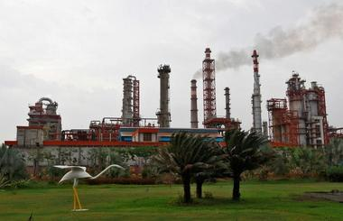 An oil refinery of Essar Oil, which runs India's second biggest private...