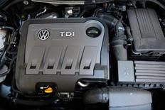 A Volkswagen Passat TDI diesel engine is seen in central London, Britain September 30, 2015.  REUTERS/Stefan Wermuth/File Photo