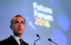 Bank of England Governor Mark Carney speaks at the Future Forum in Birmingham Town Hall, in Britain, October 14, 2016. REUTERS/Chris Radburn/Pool