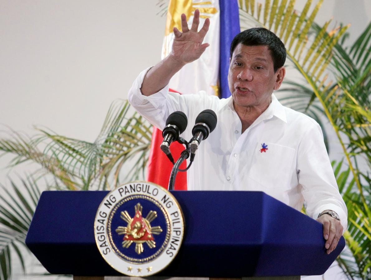 Philippines' Duterte says drugs flow slows, vents at U.S. and Soros