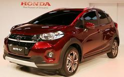 """Honda apresenta seu novo modelo SUV, """"WRV"""" durante o Salão do Automóvel de São Paulo, em São Paulo, Brasil 08/11/2016  REUTERS/Paulo Whitaker"""