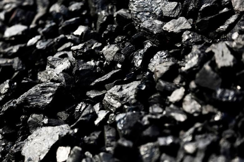 Coal waits to be loaded on train cars to depart the Hobet mine in Boone County, West Virginia, U.S. May 12, 2016. REUTERS/Jonathan Ernst/File Photo