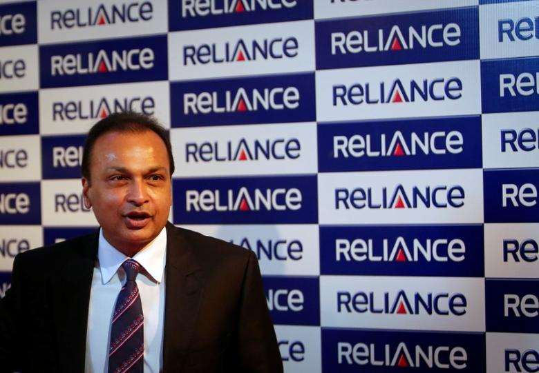 Anil Ambani, chairman of the Reliance Anil Dhirubhai Ambani Group, poses for photographers before addressing the annual shareholders meeting in Mumbai in this file photo dated August 27, 2013. REUTERS/Danish Siddiqui/File Photo