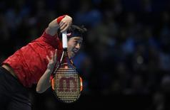 Barclays ATP World Tour Finals - O2 Arena, London - 19/11/16 Japan's Kei Nishikori in action during his semi final match against Serbia's Novak Djokovic Action Images via Reuters / Tony O'Brien Livepic