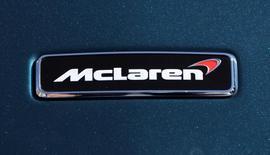 A McLaren logo is seen on a car in Monaco September 30, 2016.  REUTERS/Eric Gaillard
