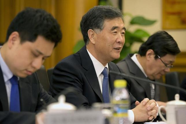 11月22日、中国の汪洋副首相は、米実業界が対中貿易に意欲的との認識を示した。写真は北京で3月代表撮影(2016年 ロイター)