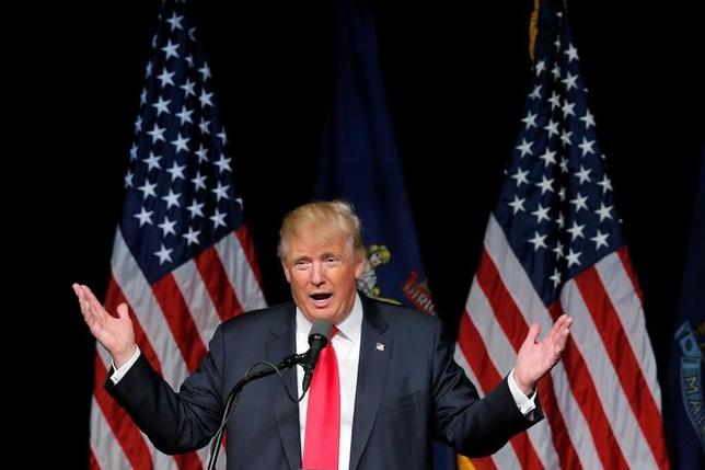 11月24日、トランプ米次期大統領は、インディアナ州のエアコンメーカー、キャリアが雇用の海外移転を取りやめるよう、感謝祭の休暇中も尽力していると明らかにした。写真はメイン州で6月撮影(2016年 ロイター/Brian Snyder)