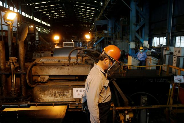 A worker walks inside the China Steel Corporation factory, in Kaohsiung, southern Taiwan August 26, 2016. REUTERS/Tyrone Siu/File Photo