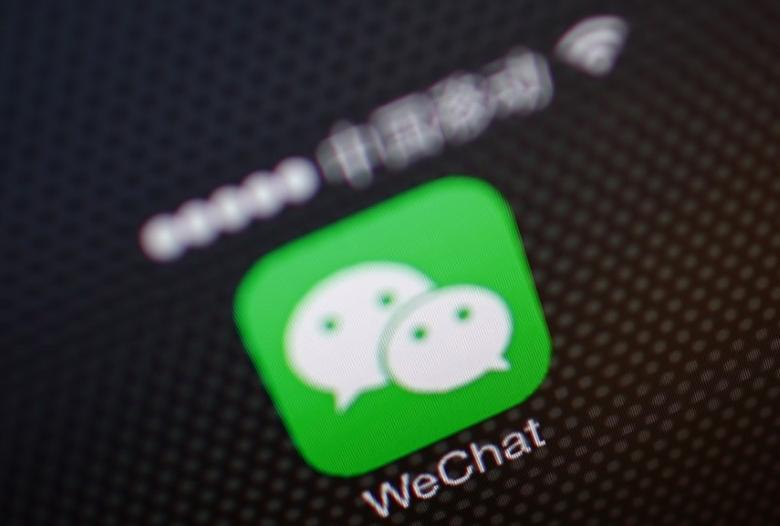 A picture illustration shows a WeChat app icon in Beijing, December 5, 2013.  REUTERS/Petar Kujundzic