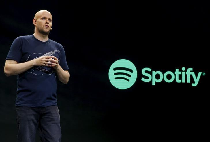 Spotify CEO Daniel Ek speaks  during a press event in New York May 20, 2015. Spotify, which provides free on-demand music or ad-free tunes for paying customers, said it will now also provide video content and podcasts. REUTERS/Shannon Stapleton