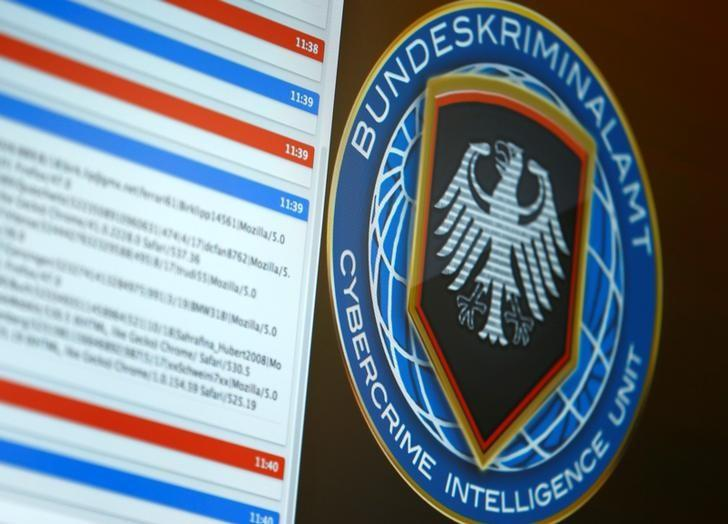 Logo of the Cybercrime Intelligence Unit of Germany's Bundeskriminalamt (BKA) Federal Crime Office is pictured during a media day in Wiesbaden, Germany, July 27, 2016.  REUTERS/Ralph Orlowski